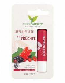 COSMOLUX Cosnature naturalny ochronny balsam do ust z ekstraktem z czerwonych owoców 4,8 g