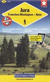 Kummerly & Frey Szwajcaria Północno-zachodnia Jura mapa 1:60 000 Kummerly & Frey