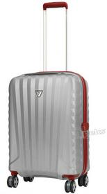 Roncato Uno SL mała walizka podróżna kabinowa - srebrny / czerwony 5163-0925