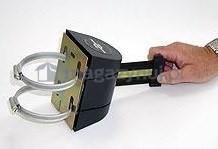 Tensator Rozwijana taśma ostrzegawcza + kaseta MIDI na obejmy, zapięcie przeciwpaniczne (Długość 3,5 m)