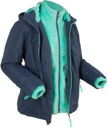 Bonprix Kurtka outdoorowa 3 w 1, z bluzą z polaru ciemnoniebieski