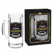 Pigmejka PIGMEJKA Kufel do piwa, CZŁOWIEK LEGENDA, 500 ml