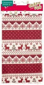 Ozdoba dekoracyjna, tkanina renifery i śnieżki
