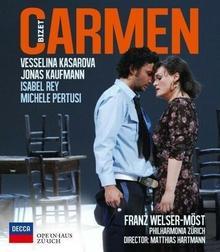 Bizet Carmen Kaufmann Kasarova Orchester Der Oper Zurich i inni) [Blu-ray] Vesselina Kasarova Jonas Kaufmann Orchester der Oper Zurich