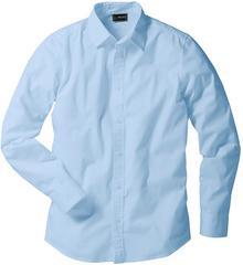 Bonprix Koszula ze stretchem Slim Fit jasnoniebieski