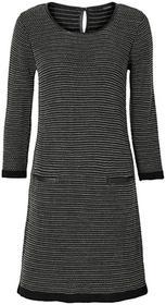 Bonprix Sukienka dzianinowa czarno-ecru