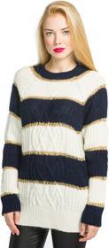 Pinko Lievemente Sweater Niebieski Biały M (183186)