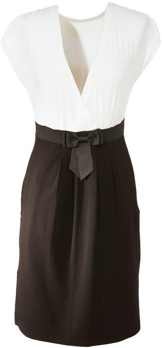 Bonprix Sukienka ecru-czarny