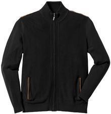 Bonprix Sweter rozpinany Regular Fit czarny