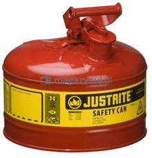 Topserw Pojemnik zabezpieczający stalowy na płyny łatwopalne 9,5 l, Typ I, czerwony
