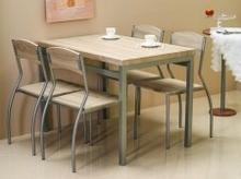 Signal Zestaw ASTRO (stół + 4 krzesła) dąb sonoma ASTROD