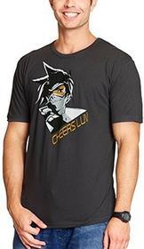 Overwatch męski T-shirt Tracer Cheers Luv bawełna szary -  xxl szary B0711MZ1P7