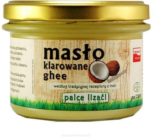 Ghee Palce Lizać Naturalne masło z kokosem Palce Lizać! 220 ml