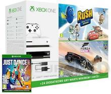 Microsoft Xbox One S 500 GB Biała + Kinect + Forza Horizon 3 + Hot Wheels + Disney Pixar Rush + JD 2017 + XBL 6 m