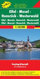 Freytag&Berndt Niemcy Eifel-Moselle-Hunsruck mapa T10T 1:150 000 Freytag & Berndt