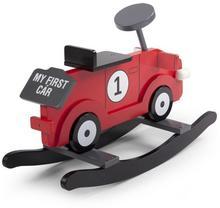 CHILDHOME CHILDWOOD Auto na biegunach My First Car czerwono-czarne