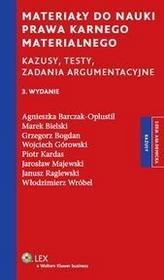 Wolters Kluwer Materiały do nauki prawa karnego materialnego - Agnieszka Barczak-Oplustil, Marek Bielski, Grzegorz Bogdan