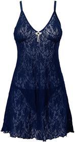 Bonprix Koszulka nocna + stringi (2 części) niebieski