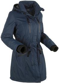Bonprix Długa kurtka funkcyjna outdoorowa ciemnoniebieski