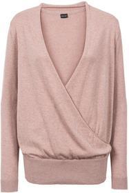 Bonprix Sweter kopertowy stary jasnoróżowy