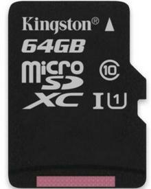 Kingston Micro SD Class 10 Gen2 64GB
