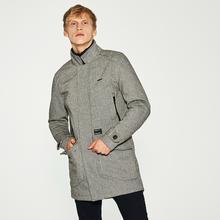 HOUSE Elegancki płaszcz z domieszką wełny - Czarny