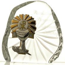 Crystal Julia Skałka przycisk kryształowy I Komunia Święta 05549)
