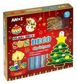 Fiorello Farby witrażowe 10 kolorów+ witraże christmas AMOS