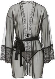 Bonprix Kimono + stringi (2 części) czarny
