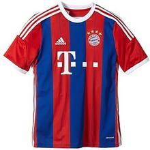 Adidas replika domowej koszulki piłkarskiej FC Bayern Monachium, chłopięca, wielokolorowa F48504_Fcb True Red/Collegiate Royal/White_176