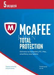 McAfee Total Protection 2017 PL 5 device licencja na rok