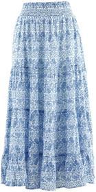 Bonprix Długa spódnica, kolekcja Maite Kelly biało-błękitny