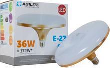Abilite E27 Ufo Gold Mleczna 36W 230V