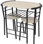 vidaXL Stolik barowy/kuchenny + krzesła. MDF