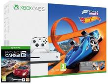Microsoft Xbox One S 500 GB Biały + Forza Horizon 3 + Forza Horizon 3 Hot Wheels + Project CARS 2