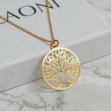 Drzewo życia naszyjnik złoty