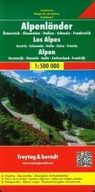 Freytag&berndt Alpy - Austria Słowenia Włochy Szwajcaria Francja mapa 1:500 000 Freytag & Berndt - Freytag & Berndt