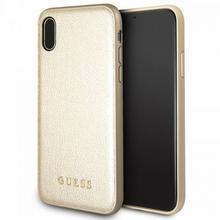 Guess Iridescent - Etui iPhone X (złoty) GUHCPXIGLGO