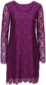 Bonprix Sukienka koronkowa fiołkowy lila