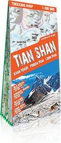 ExpressMap praca zbiorowa trekking map Tien-Szan (Tian Shan). Laminowana mapa trekkingowa 1:100 000