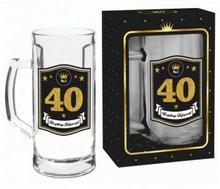 BGtech Kufel do piwa 500ml Gold 40 urodziny 332-00/OP-061-008/PL-4976