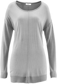Bonprix Sweter oversize jasnoszary melanż