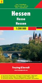Freytag&Berndt Niemcy część 5 Hessia mapa 1:200 000 Freytag & Berndt