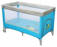 Baby Mix Łóżeczko turystyczne 120x60 HR-8052 1-poziomowe blue HR-8052-184