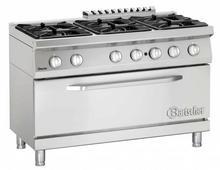 Bartscher 6-palnikowa kuchnia gazowa z dużym piekarnikiem gazowym 52261