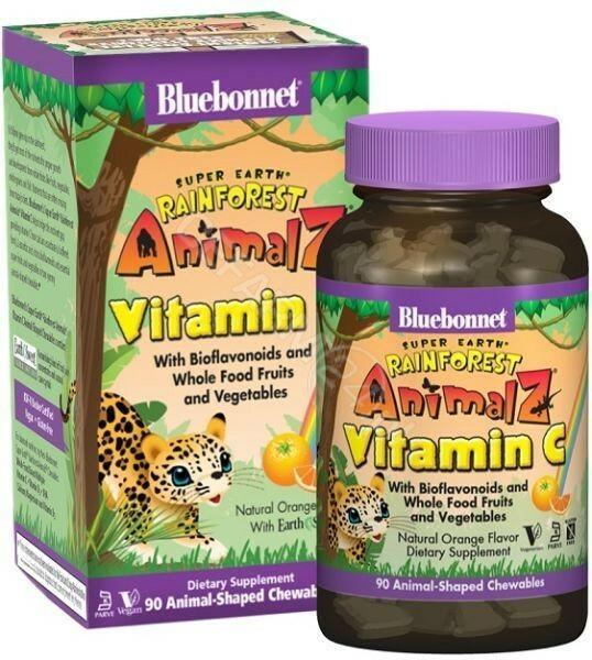 BLUEBONNET NUTRITION CORP Bluebonnet Super Earth Rainforest Animalz Witamina C x 90 tabl do ssania