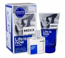 Mexx Life Is Now For Him zestaw 50 ml Edt 50 ml + Żel pod prysznic 150 ml dla mężczyzn