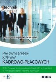 Difin Prowadzenie spraw kadrowo-płacowych A.35.2 - Janina Mierzejewska-Majcherek