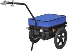 vidaXL vidaXL Przyczepa rowerowa transportowa/Taczka 70 L, niebieska
