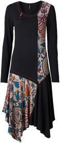 Bonprix Sukienka z nadrukiem ciemnoszary z nadrukiem